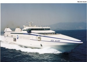 HSV Aliso carries 500 passengers, 148 cars and 112 coaches at 37 knots